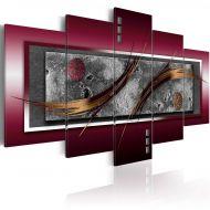 Obraz - Burgundowa elegancja (100x50 cm)