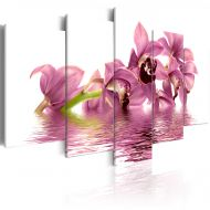 Obraz - Lilie zanurzone w wodzie (100x50 cm)