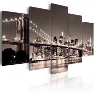 Obraz - Manhattan-Most Brookliński II (100x50 cm)