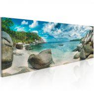 Obraz - Turkusowy raj (120x40 cm)