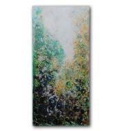 Obraz olejny malowany ręcznie na płótnie Szmaragdowy 120x60cm