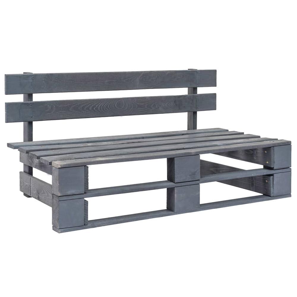 Ogrodowa ławka z palet, drewno FSC, szara