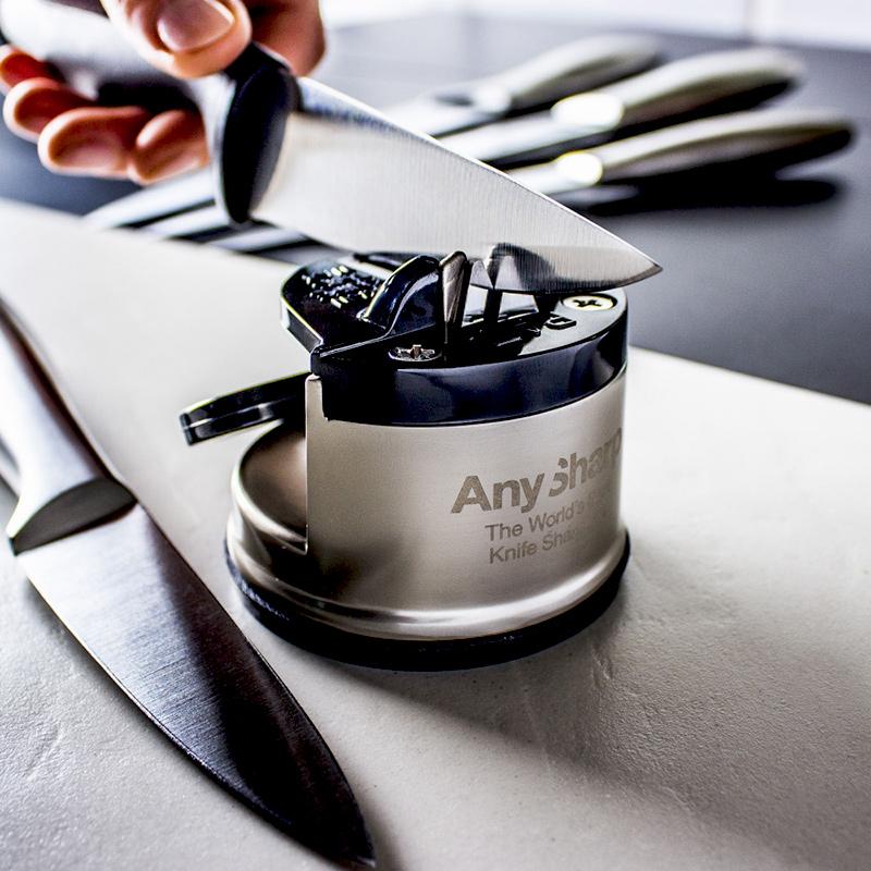 Ostrzałka do noży AnySharp Pro srebrna