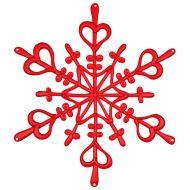 Ozdoba dekoracja świąteczna Koziol FLAKES czerwona L