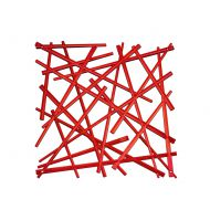 Panele dekoracyjne 4 szt. Koziol Stixx czerwone