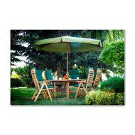 Parasol ogrodowy drewniany śr. 300cm Bazkar FI Oliwka