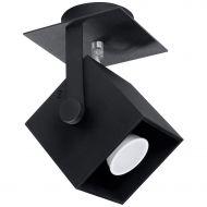 Plafon 12x12x19cm Sollux Lighting Cedra1 czarny
