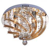 Plafon Dinar 4 Lampex srebrno-złoty