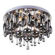 Plafon Nessebar 5 Lampex srebrno-czarny