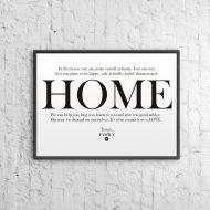 Plakat dekoracyjny 50x70 cm HOME DekoSign biały
