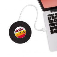 Podgrzewacz kubka na USB Hot Tracks Mustard Płyta winylowa