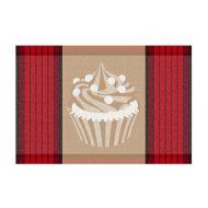 Podkładka na stół, 43,5x28,5 cm, Kela Cupcake czerwona