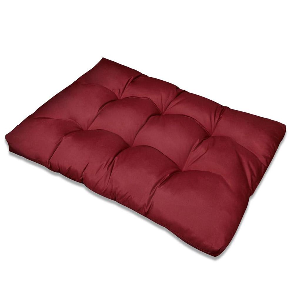 Poduszka do siedzenia 120 x 80 x 10 cm kolor czerwonego wina