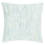 Poduszka Melange Zigzag 45x45 niebieska