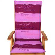 Poduszka na krzesło ogrodowe ACA Bazkar 120x50cm różowa