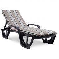 Poduszka na leżak ogrodowy 190x56cm Florida Bazkar szara