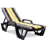 Poduszka na leżak ogrodowy 190x56cm Florida Bazkar szaro-żółta