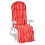 Poduszka na leżak ogrodowy 160x48cm Astra Bazkar pomarańczowo-czerwona