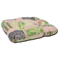 Poduszka na taboret 38x38cm Bazkar beżowo-zielona