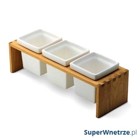 Pojemniki ceramiczne Skagerak Plint 3 Teak S1836720