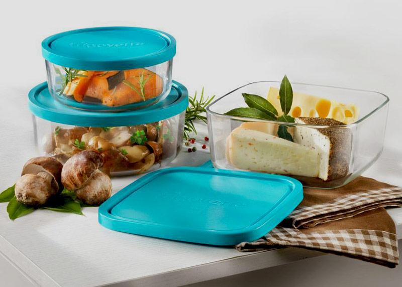 Szklane pojemniki kuchenne na żywność