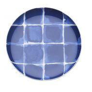 Porcelanowe naczynie na przystawki w kratę 15,5 cm Nuova R2S Indigo niebieskie