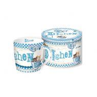 Porcelanowy kubek w blaszanym pudełku Nuova R2S Happy Life Kitchen