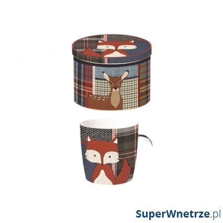 Porcelanowy kubek w blaszanym pudełku Nuova R2S Forest Friends 217 FOX
