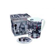 Porcelanowy kubek z przykrywką Nuova R2S Easy Life