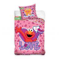 Pościel 100x135cm  + 40x60cm CARBOTEX Ulica Sezamkowa Elmo Love