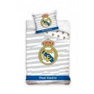 Pościel 160 x 200 cm Carbotex Real Madrid godło/paski