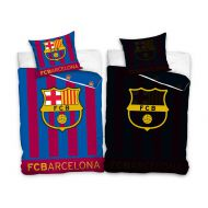 Pościel 160x200cm Carbotex FC Barcelona / herb, pasy