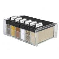 Pudełko na przyprawy + 6 pojemników EMSA Spice Box czarne