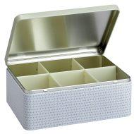 Puszka na herbatę w torebkach 21,5 cm Eigenart Retro złoto-biała