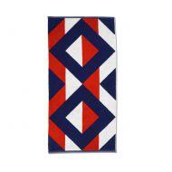 Ręcznik 50 x 100 cm Kela Ladessa czerwono-niebieski