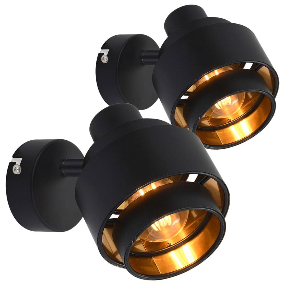 Reflektory, 2 szt., czarne, E14