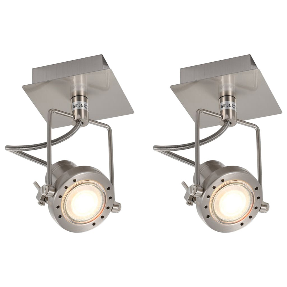 Plafony reflektory 2 szt. srebrne GU10