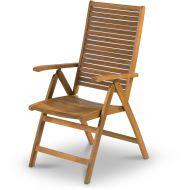 Regulowane krzesło ogrodowe 105x74x58cm Fieldmann brązowe