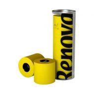 RENOVA 3szt Tuba PCV Żółty Portugalski Papier toaletowy