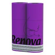 RENOVA 6szt. Fioletowy Portugalski Papier toaletowy