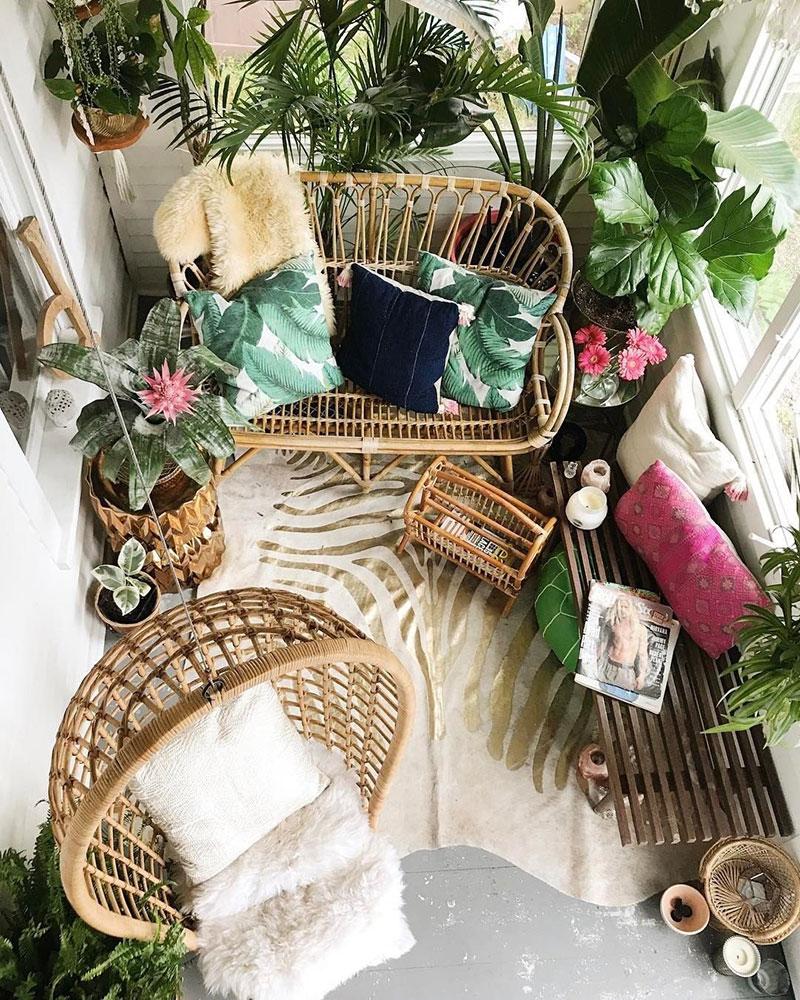 urządzanie balkonu w bloku - rośliny