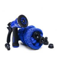 Rozciągliwy wąż ogrodowy 22,5 m Xhose + pistolet niebieski