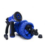 Rozciągliwy wąż ogrodowy 45 m Xhose + pistolet niebieski