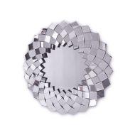 Sandra - okrągłe lustro dekoracyjne w ramie lustrzanej