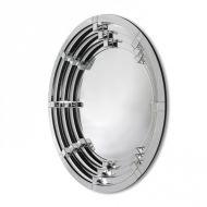 Okrągłe nowoczesne lustro dekoracyjne w ramie lustrzanej Selene