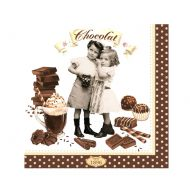 Serwetki deserowe 20 szt. Nuova R2S Chocolate Vintage