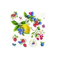 Serwetki deserowe 20 szt. Nuova R2S Napkins owoce