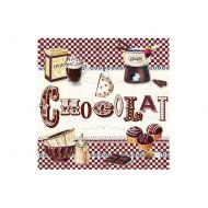 Serwetki deserowe 20 szt. Nuova R2S Napkins Chocolate