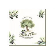 Serwetki 3-warstwowe 20szt Nuova R2S Napkins drzewo oliwkowe