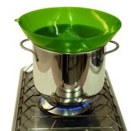 Silikonowe sitko do gotowania na parze Steamy Pavoni zielony